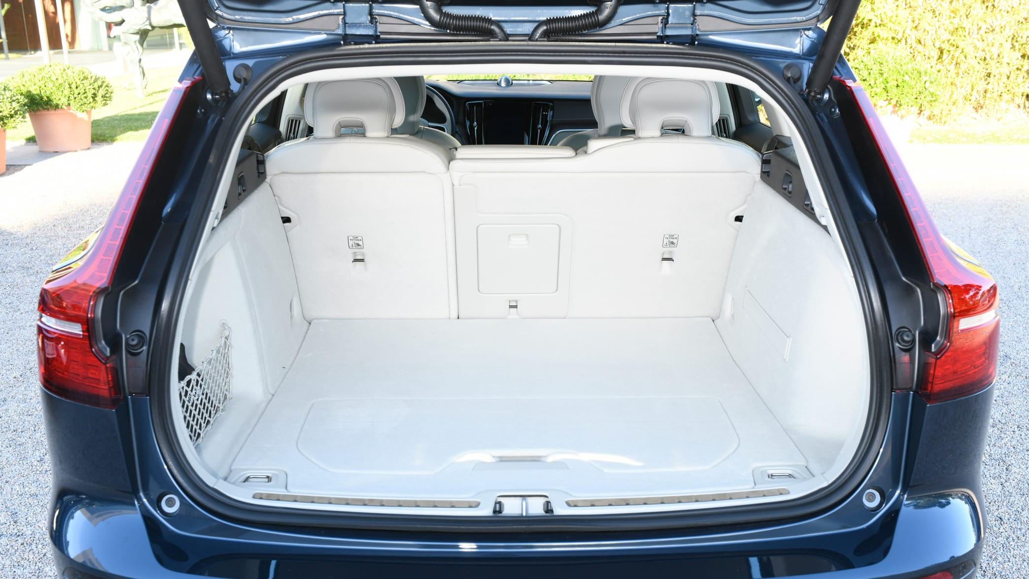 Kofferraum eines Volvo V60