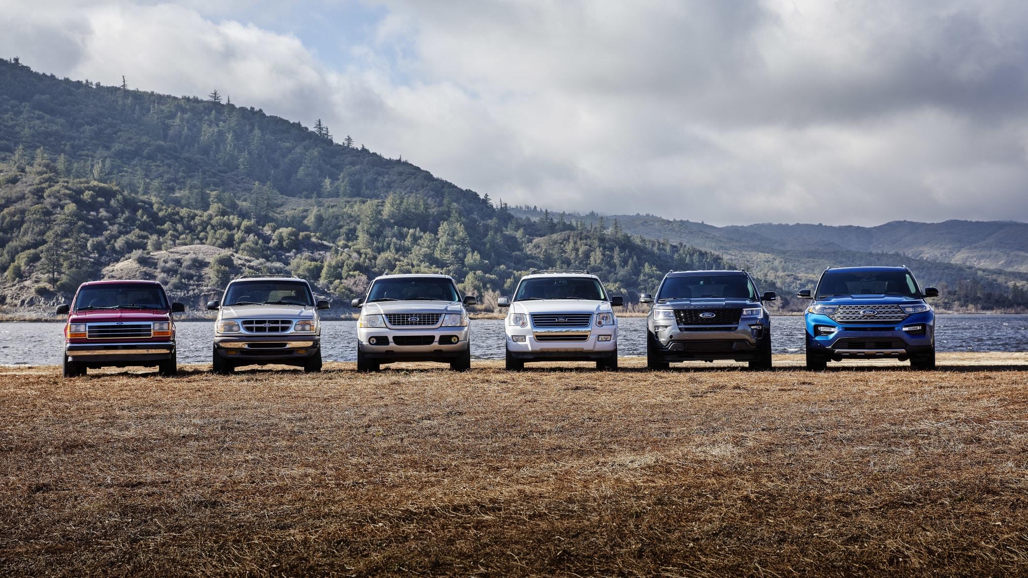 die Generationen des Ford Explorer in einer Reihe