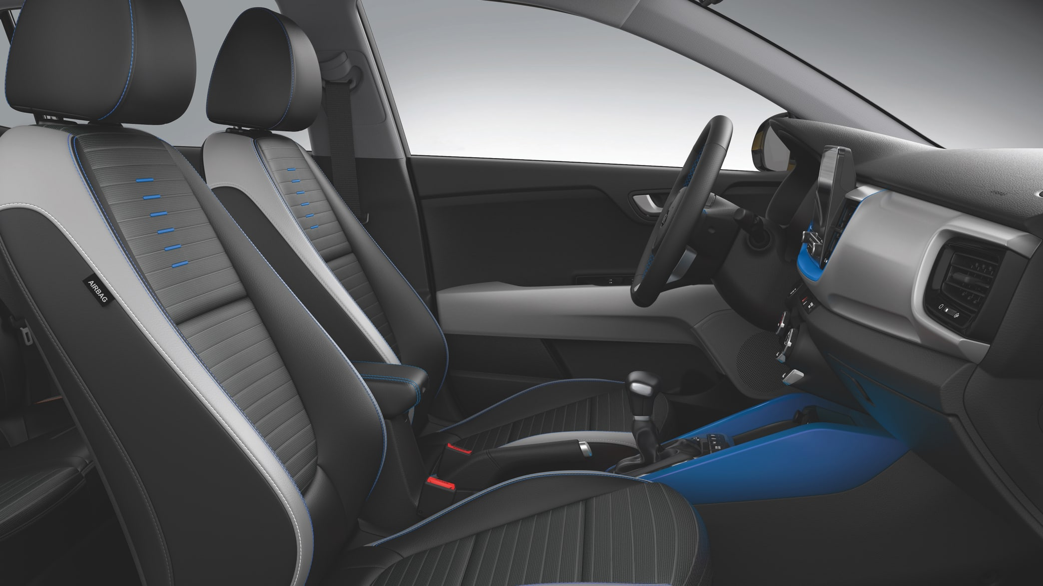 Die Vordersitze vom Kia Stonic Modelljahr 2021