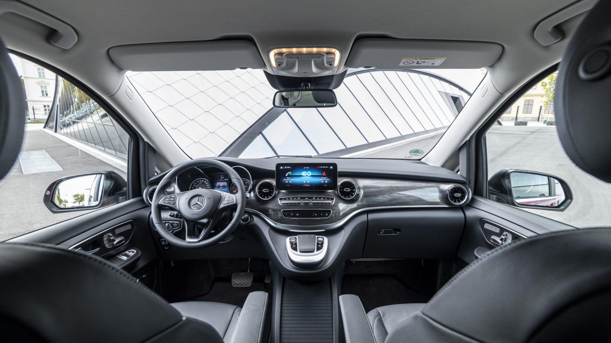Das Cockpit der Mercedes V-Klasse EQ