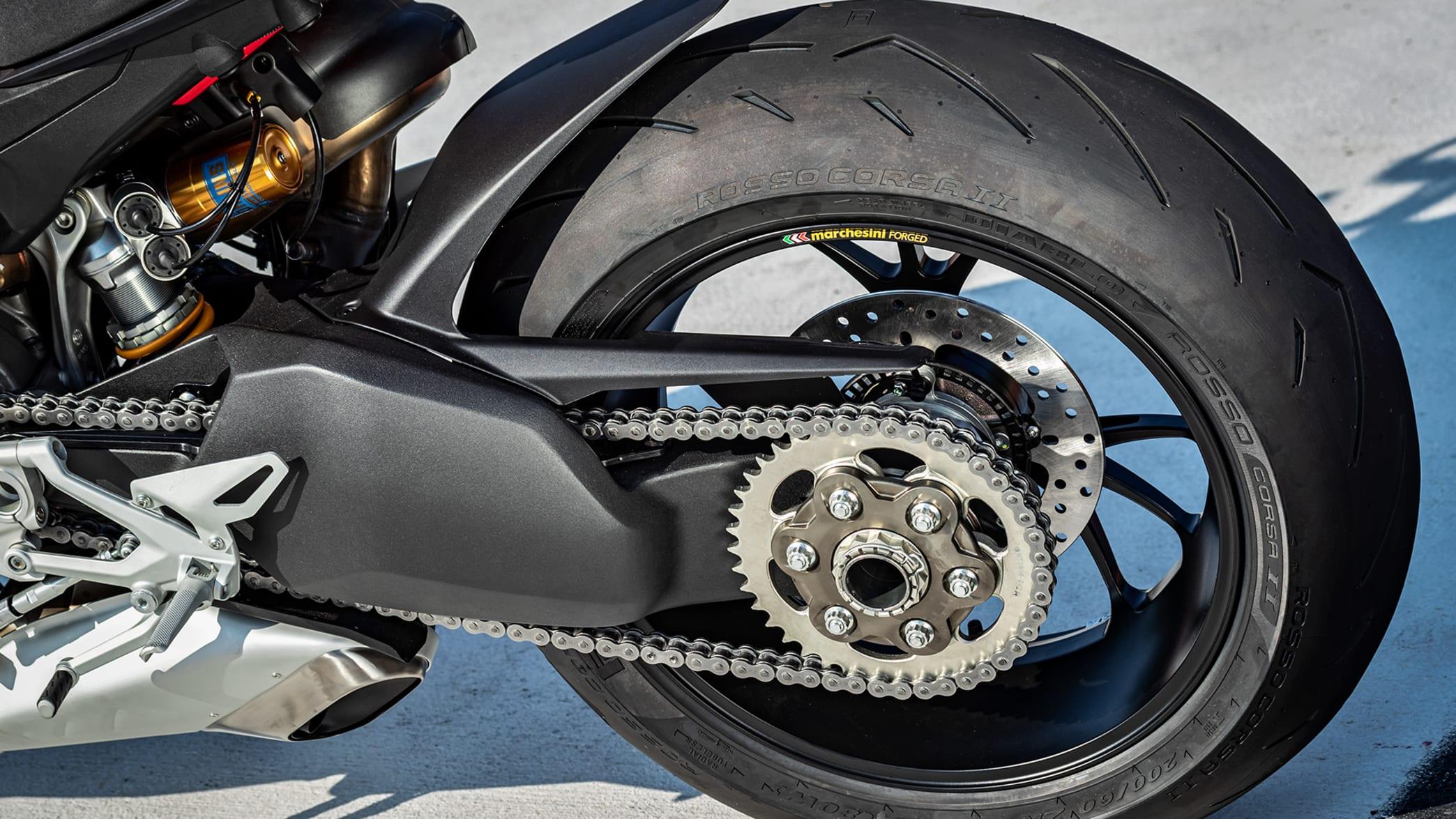 Kette einer Ducati Streetfighter V4