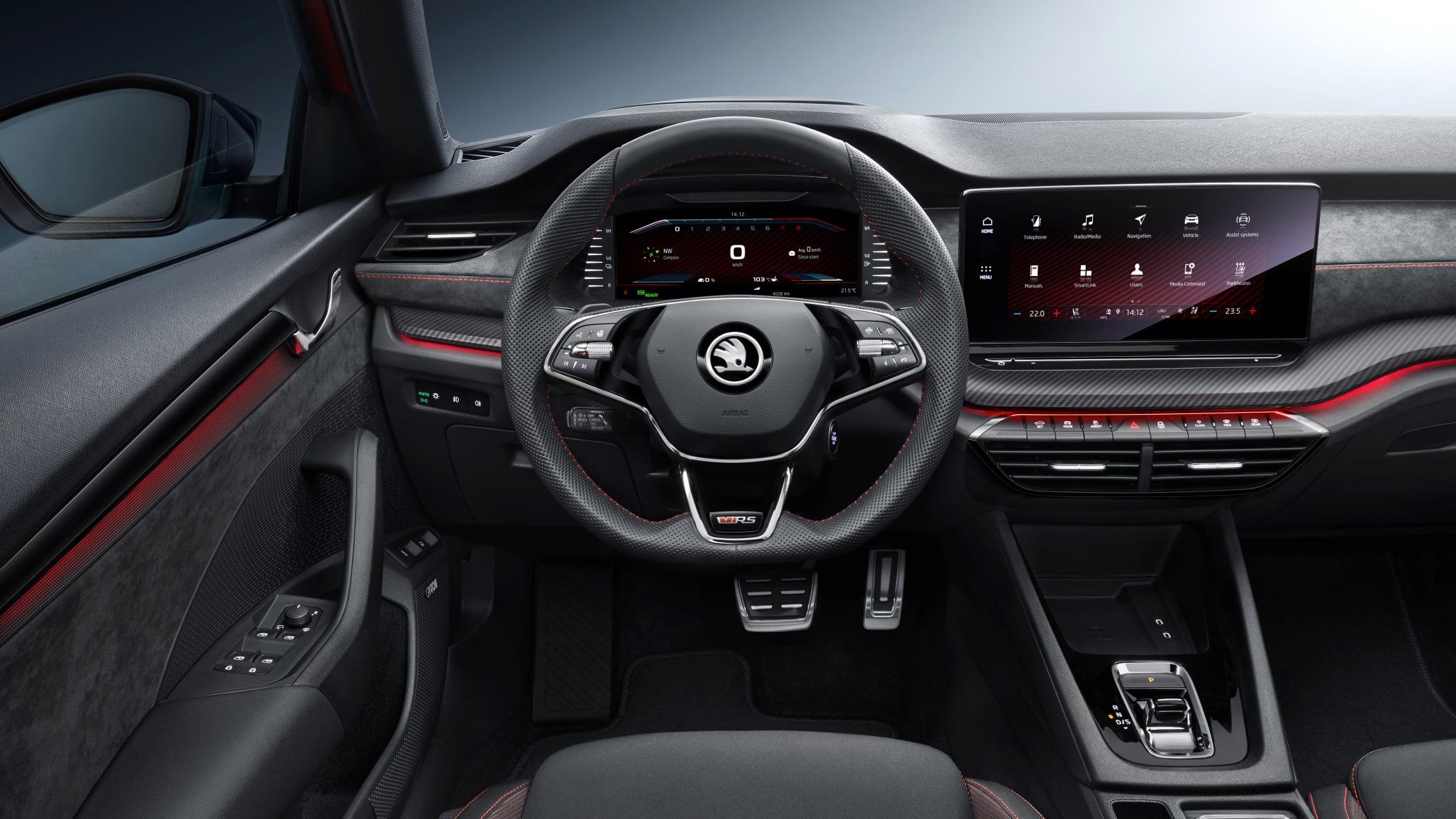 Cockpit des Skoda Octavia RS iV
