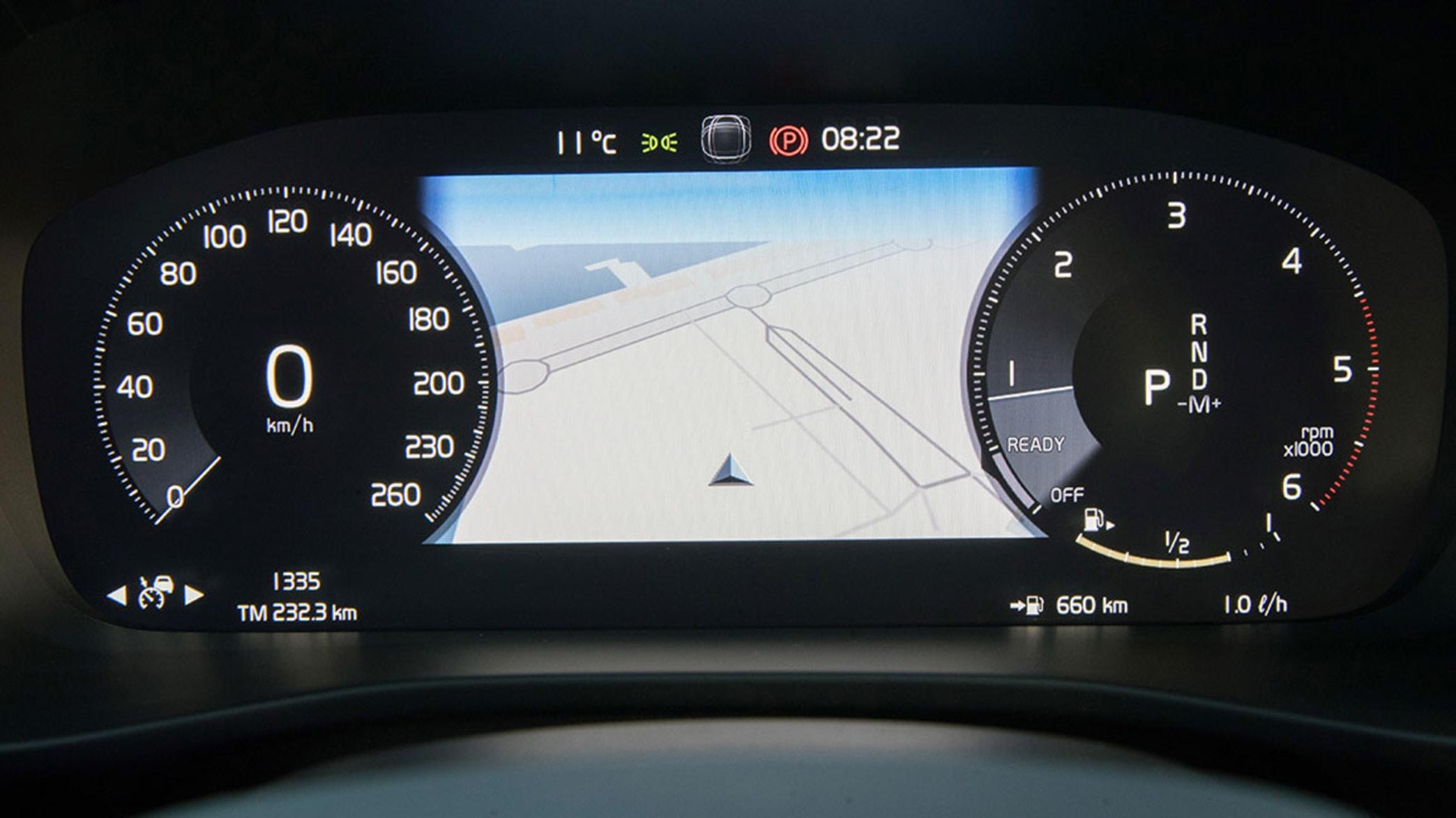 Display eines Volvo XC40