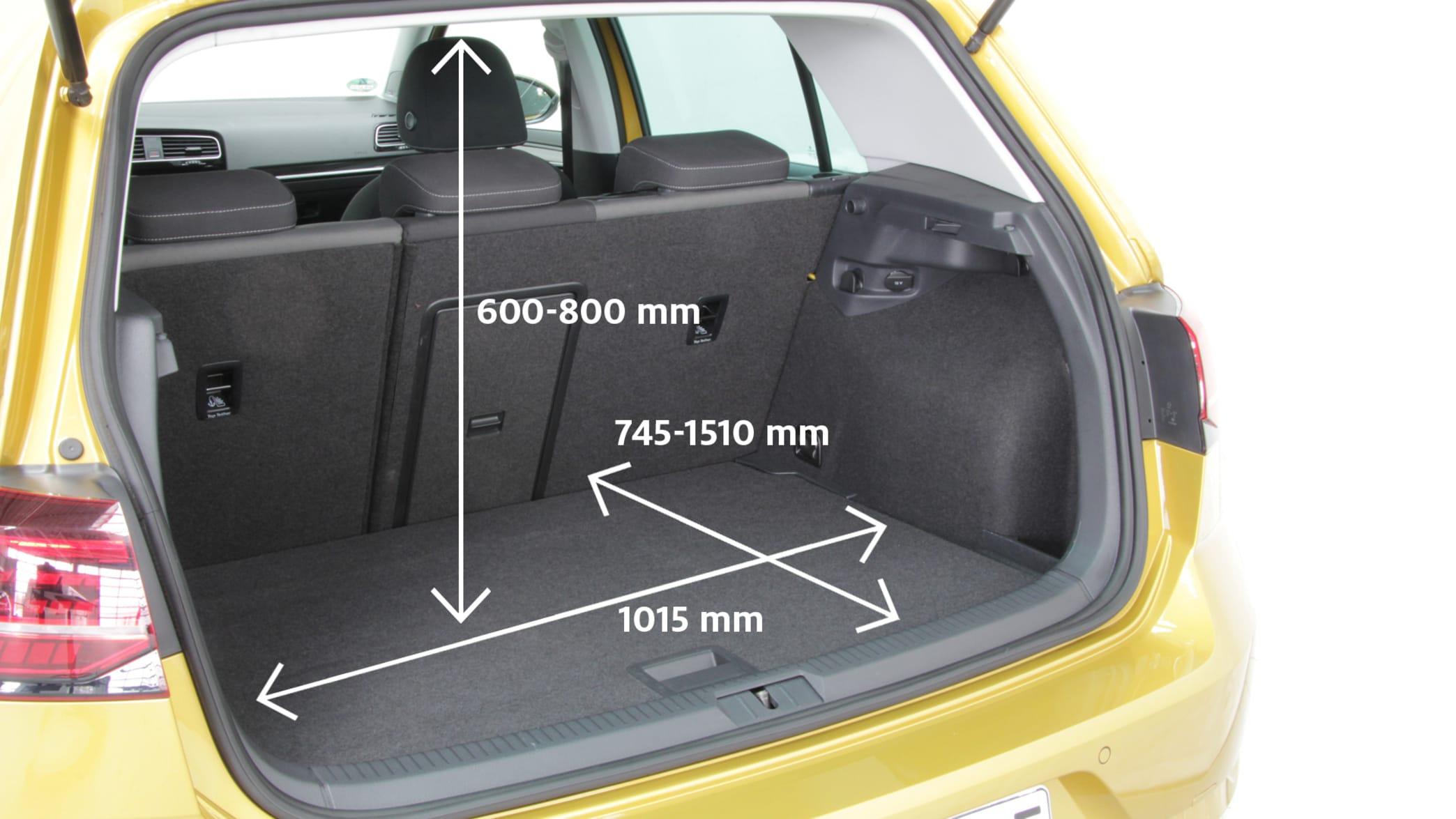 Abmessung des VW Golf Kofferraums 1.5 TSI ACT BMT Highline