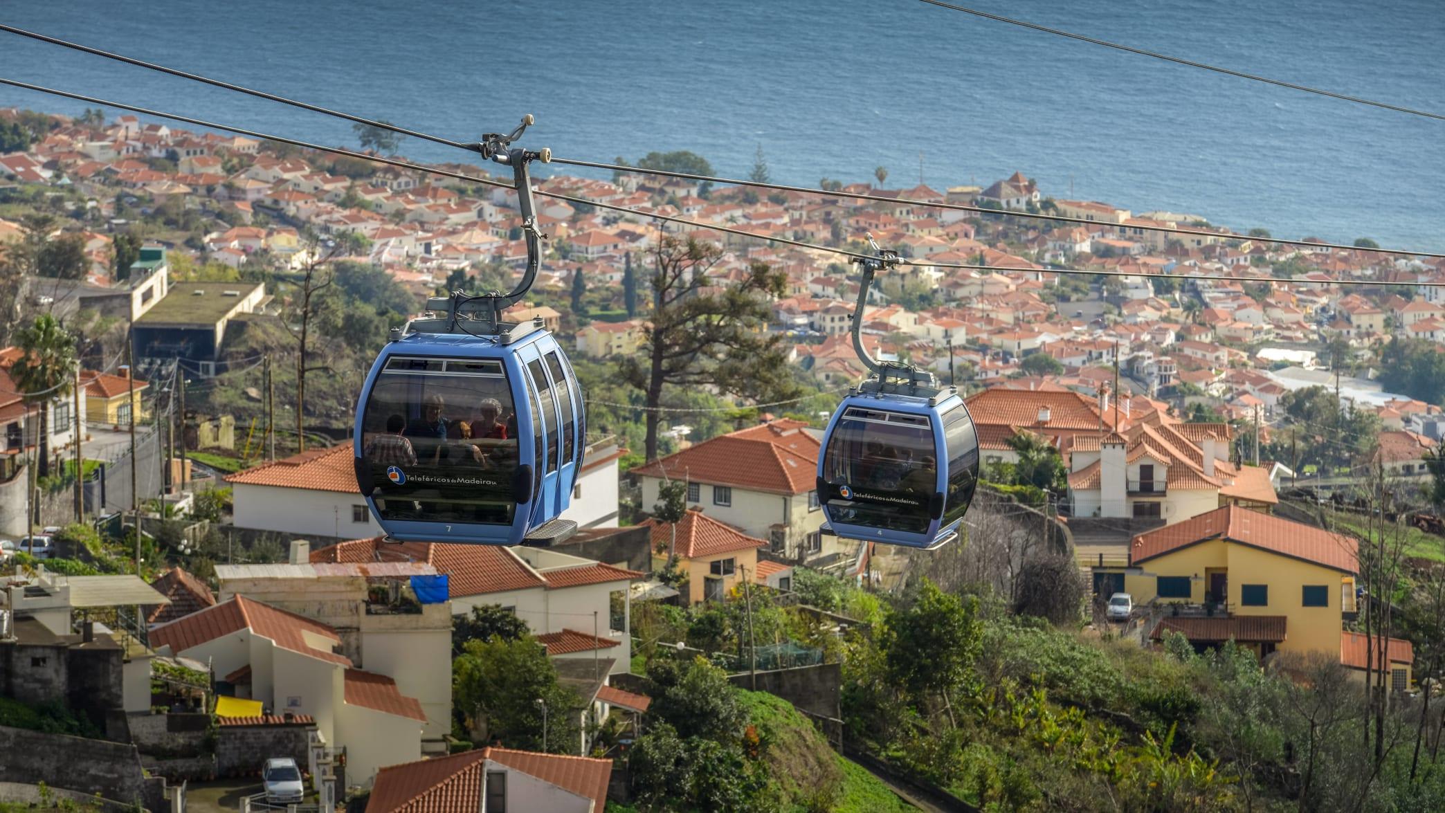Seilbahn in Funchal auf Madeira