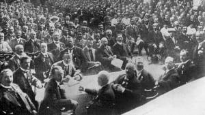 ADAC-Mitglieder beim Protesttag in Eisenach 1914