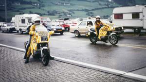 Stauberater des ADAC im Einsatz 1982