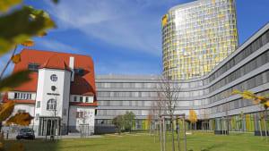 Blick auf die ADAC-Zentrale in München