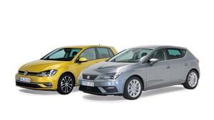Seat Ibiza und VW Golf nebeneinander