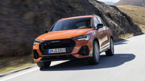 Audi Q3 Frontansicht in Orange