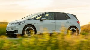 der Volkswagen ID.3 bei einer Fahrt