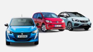 Peugeot e-208, VW e-up, Honda Jazz