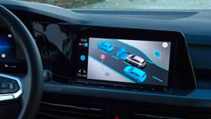 Display des VW Golf 8