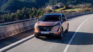 Frontansicht des Nissan Ariya