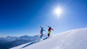 Aufstieg im Skigebiet Längenfeld, Grainau