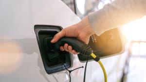 Elektroauto wird geladen