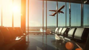 Wartebereich am Flughafen