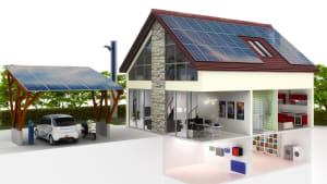 Haus mit Solaranlage: Der Strom fürs Elektroauto wird selbst erzeugt und im Keller gespeichert