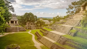Ein Maya Tempel in Chiapas in Mexiko