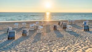 Strand mit Strandkörben auf Sylt