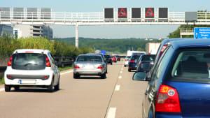 Stau auf einer Autobahn