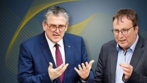 Michael Donth (links) und Oliver Krischer im Interview