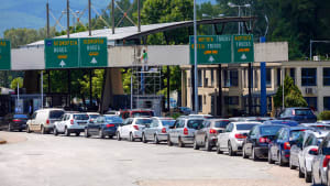 Grenzübergang Promahonas zwischen Griechenland und Bulgarien