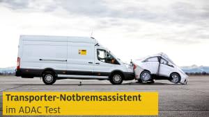 Test Notbremsassistent bei Transportern