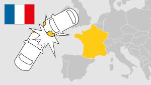 Unfall im Ausland, Frankreich, Aufmacher, Landkarte
