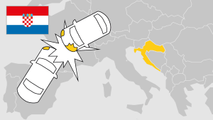 Unfall im Ausland, Kroatien, Aufmacher, Landkarte