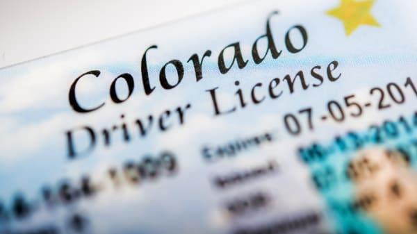 Amerikanischer Führerschein aus Colorado
