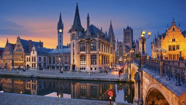 Altstadt von Brent in Belgien