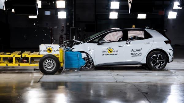 YouTube Vorschaubild eines Crashtests vom VW ID.3
