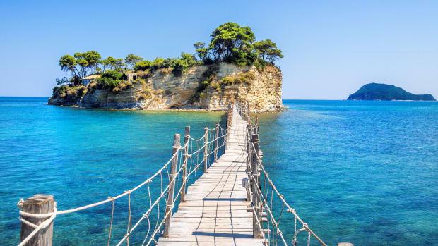 Steg an der Küste Ionisches Meer, Griechenland