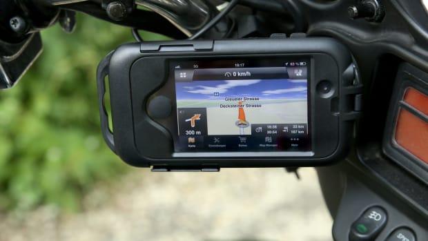 Handy-Navigation auf dem Motorrad