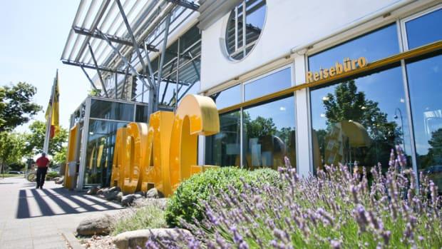 Außenansicht der ADAC Nordbaden Geschäftsstelle in Karlsruhe