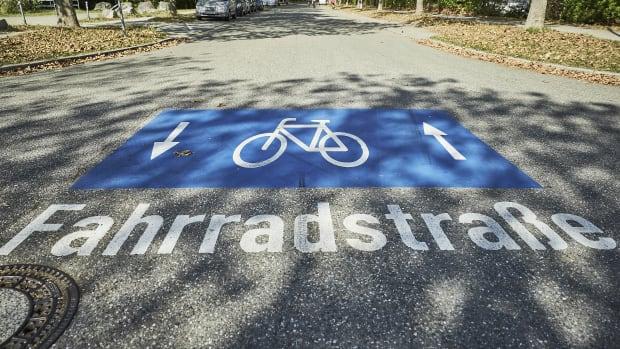 Beginn einer Fahrradstrasse