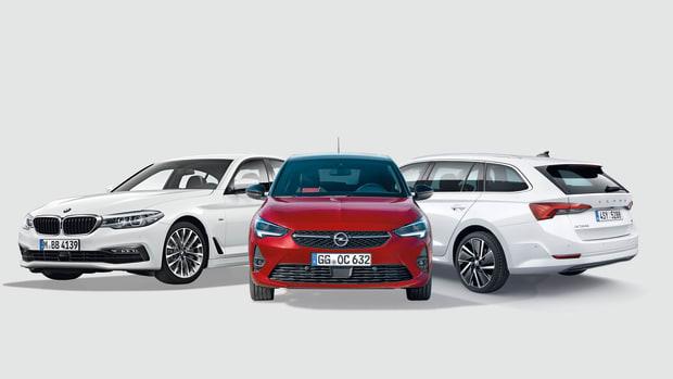 BMW 520d, Opel Corsa, Skoda Octavia