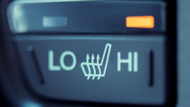 Sitzheizungs-Schalter im Auto