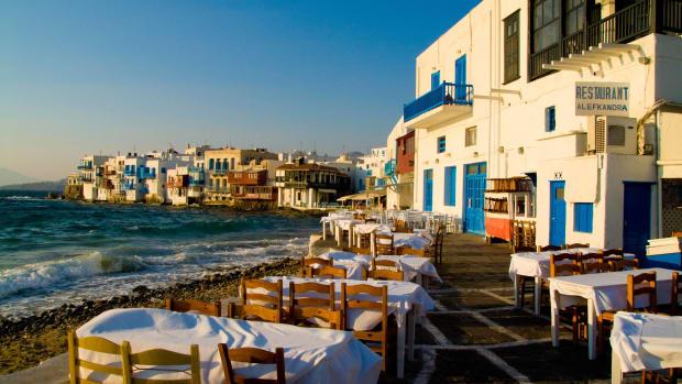 Restaurant auf Mykonos