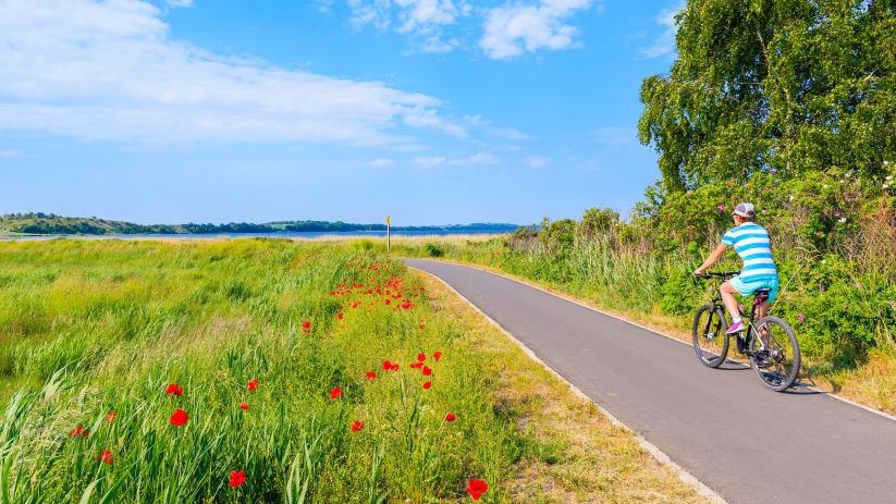 Mit dem Fahrrad unterwegs auf der Insel Rügen