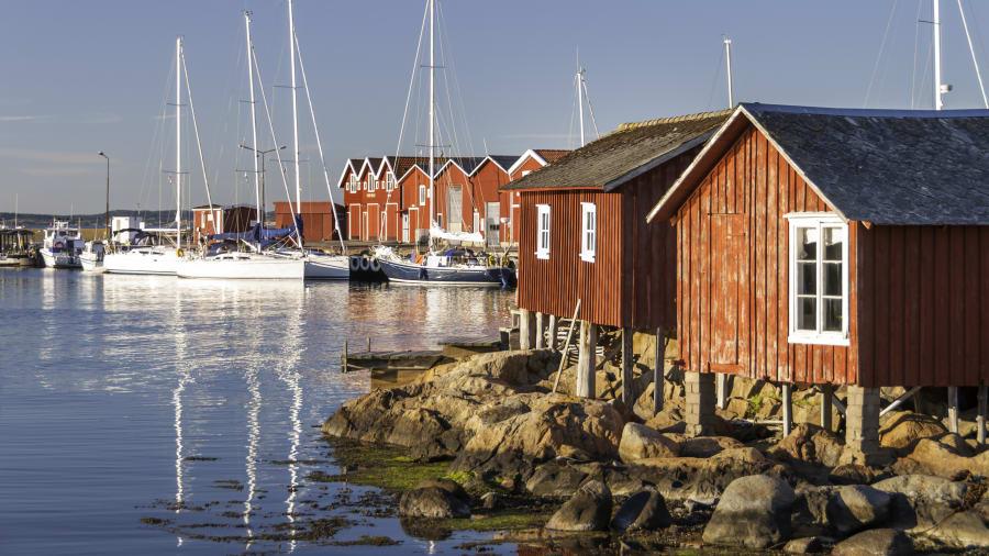 Die Insel Knippla an der Westküste von Schweden