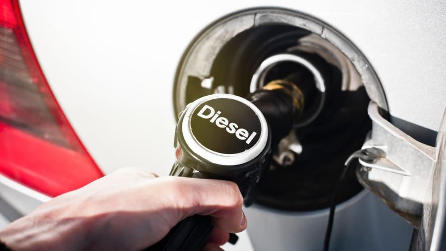 Diesel Tankstutzen im Tank