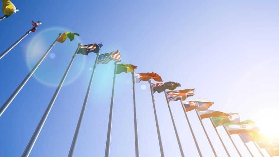 verschiedene eurpäische Flaggen