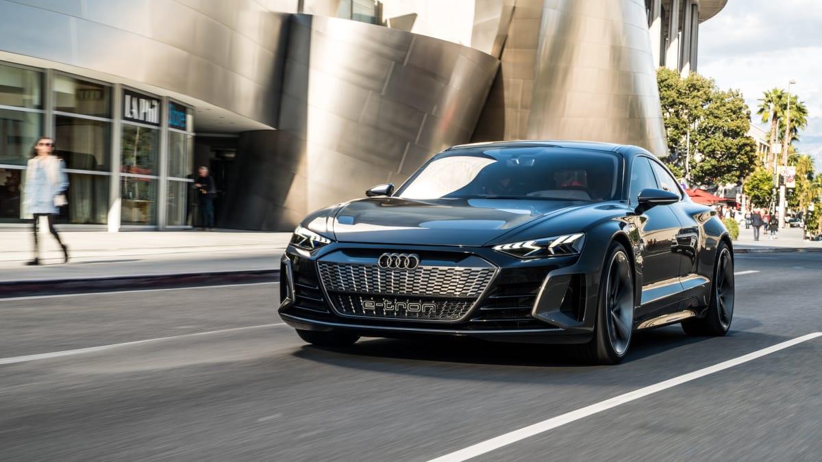 Audi e-Tron GT von vorne