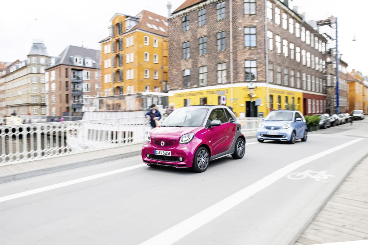 Smart EQ fahrend in Kopenhagen