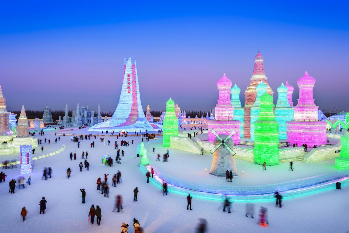 Harbin Ice und Snow World in China