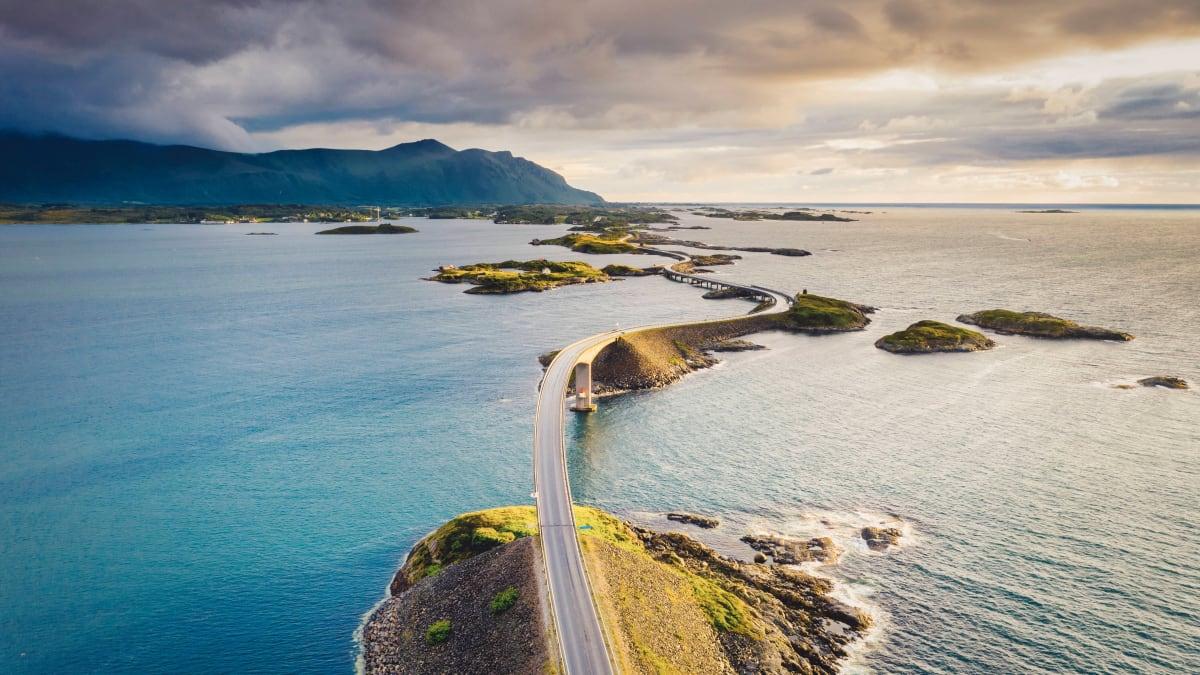 Atlantikstrasse in Norwegen
