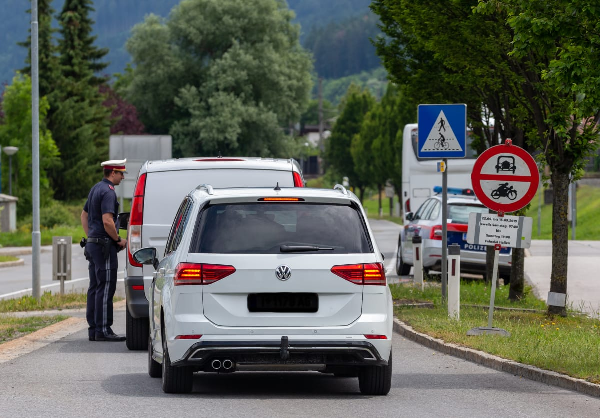 Polizeikontrolle in Österreich
