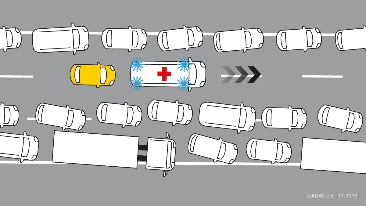 Rettungsgasse unerlaubt nutzen